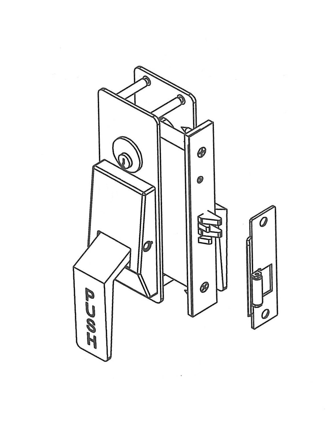 Trimco Latches Push Pull Latch With Mortise Lock Diagram
