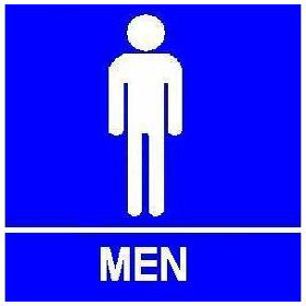Trimco Signage - ADA Restroom Sign with Braille - Men