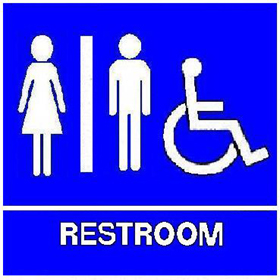 ADA Restroom Sign With Braille   Unisex / Handicap